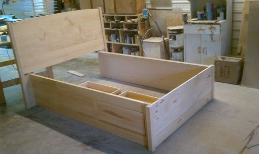 Custom Made Maple Storage Bed