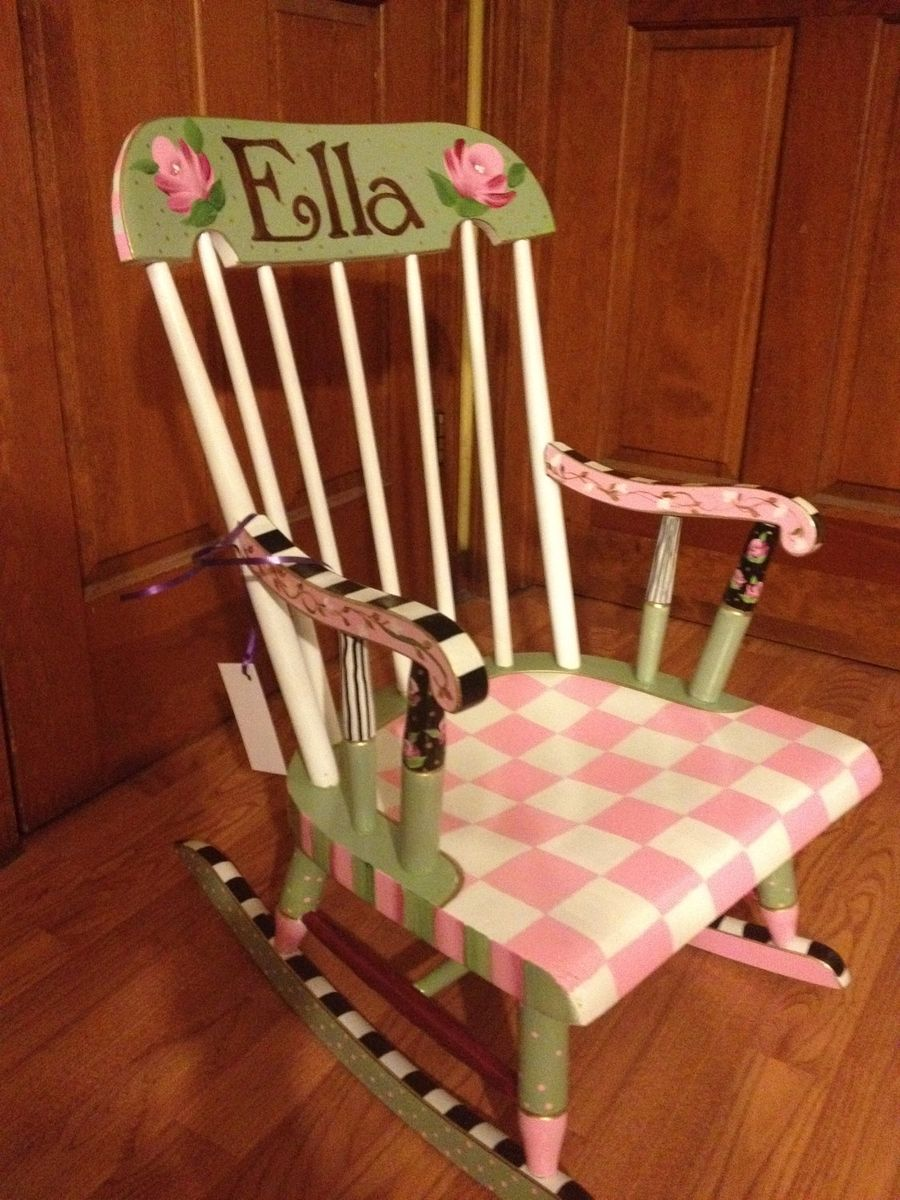 Buy Hand Made Painted Childs Rocking Chair Custom Colors
