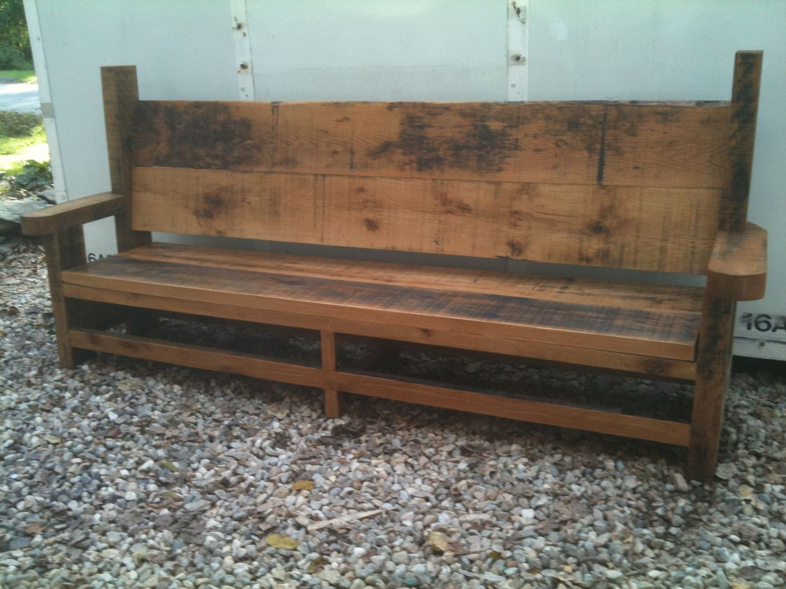 Handmade Outdoor Bench By Brenda Hall Wood Design