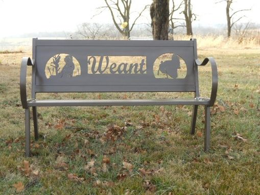 Custom Made Personalized Steel Bench