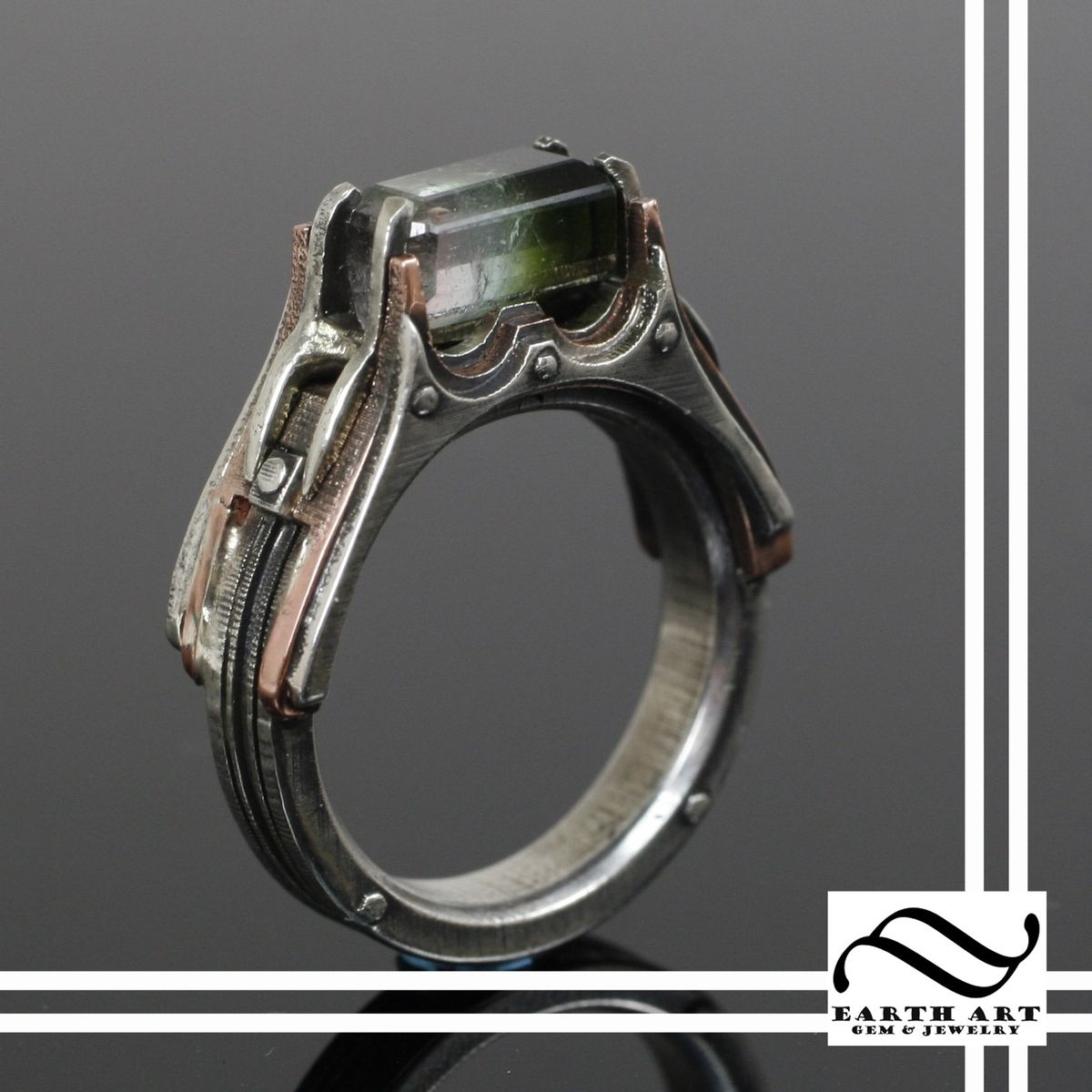 Hand Crafted Wedding Rings: Handmade Watermelon Steampunk Engagement Ring By Earth Art