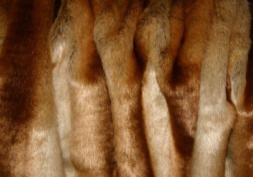 Custom Made Premium 60x84 Sheared Chinchilla Gold Faux Fur Throw Blanket And 18x18 Decorative Pillow Set 3pcs.