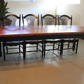 Hand Crafted Reclaimed Barnwood Dining Set By The Rusty