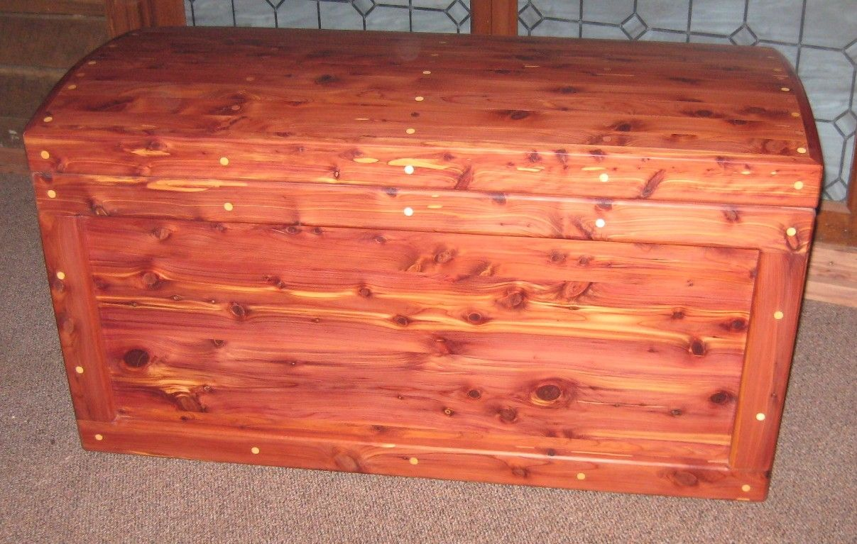 Hand Made Aromatic Red Cedar Chest With Coopered Lid By