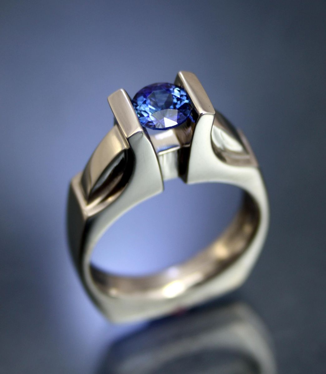Handmade natural sapphire in 18kpd white gold by art for Sapphire studios jewelry reviews