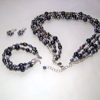 Custom Made Freshwater Pearl & Sterling Silver Jewelry
