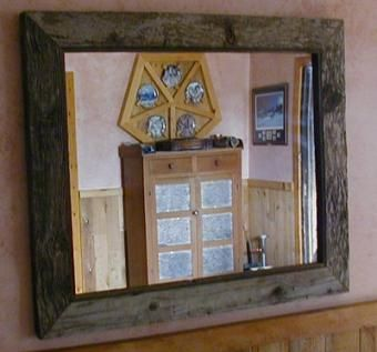 Hand Crafted Antique Barnwood Mirror Frame By Greater