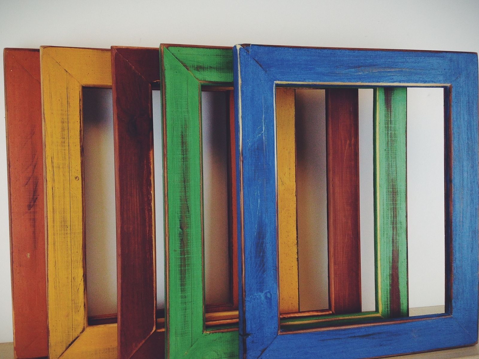 Hand Made Colorful Hand Painted Picture Frames Milk