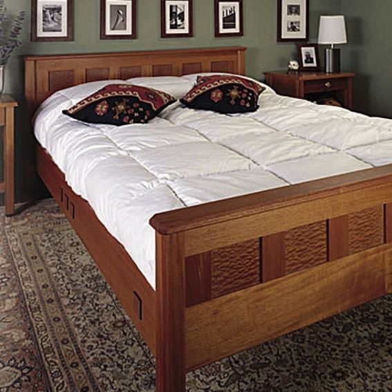 Custom Made Mahogany And Sapele Bedroom Furniture By Neal