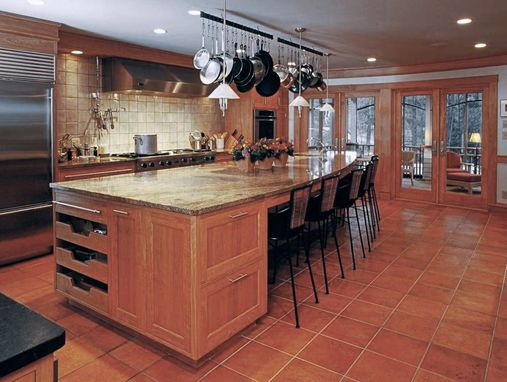Custom Made Red Birch Kitchens Are Warm And Rich.