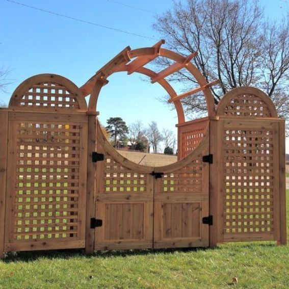 Unique Arbor Gate: Hand Made Moon Gate Arbor By Custom Outdoor Structures