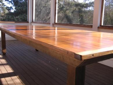 Hand Crafted Cedar Dining Table By Harlembuilt