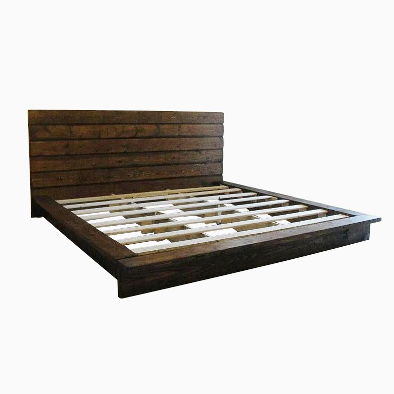 Custom King Rustic Platform Bed by Artisan Wood  CustomMade.com