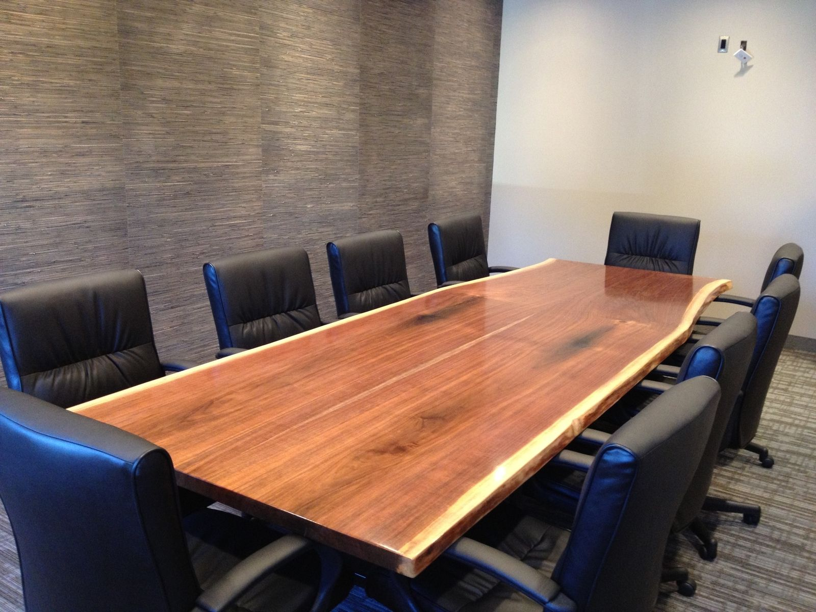 Handmade Natural Walnut Slab Conference Table By Bk