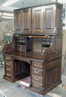 Custom Made Clark Model Walnut Desk With Hutch