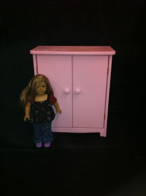 "Custom Made 18"" Doll Armoire"