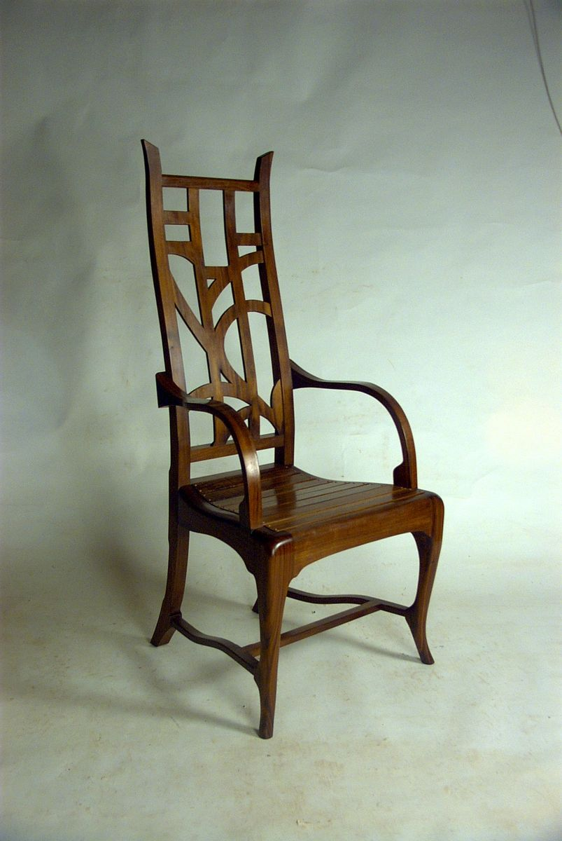 Hand Crafted Custom Modern Mackintosh Inspired Great Chair