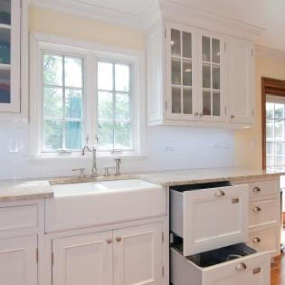 Made White Kitchen With Inset Doors By Best Cabinets