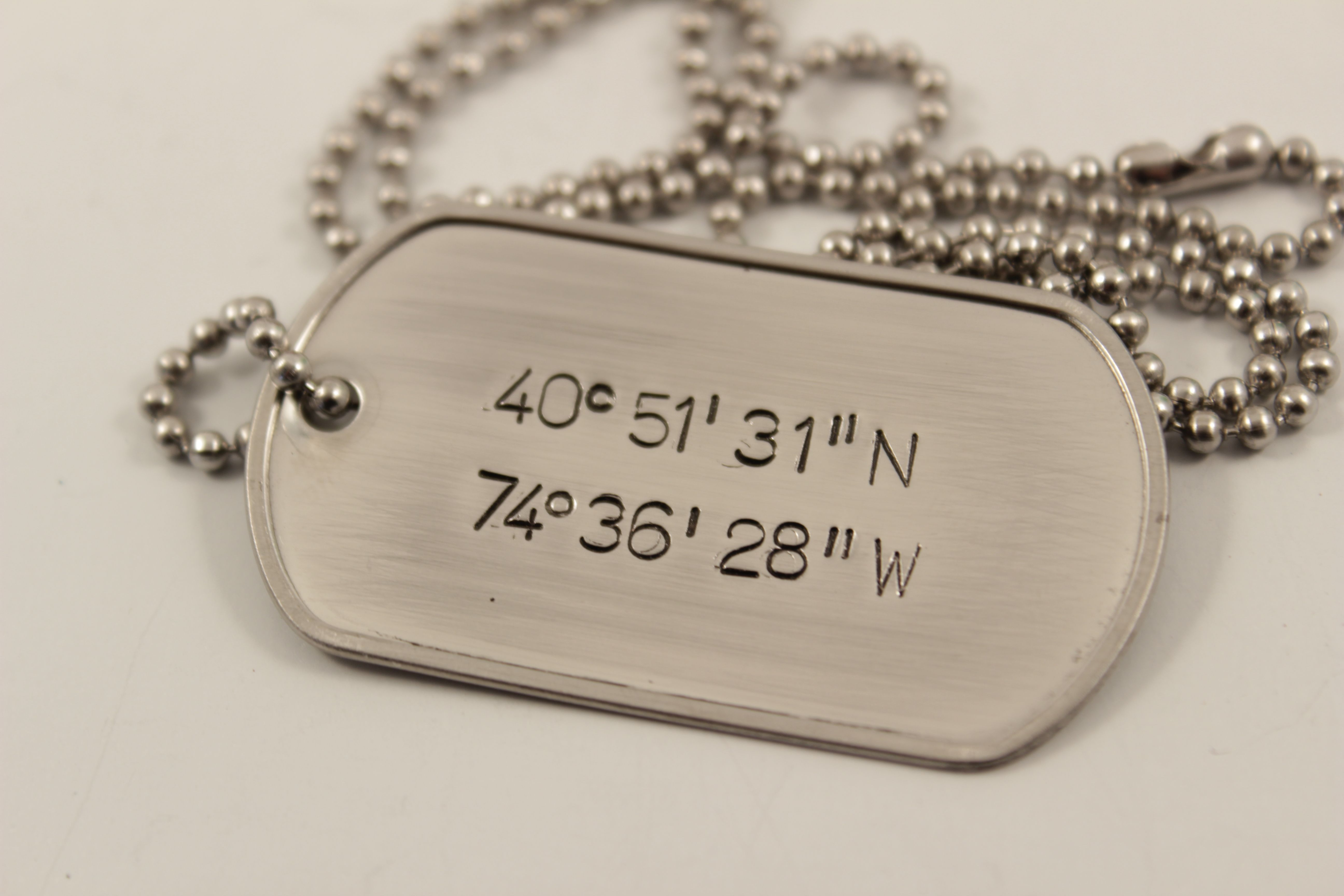 buy a hand crafted personalized custom stamped dog tag. Black Bedroom Furniture Sets. Home Design Ideas