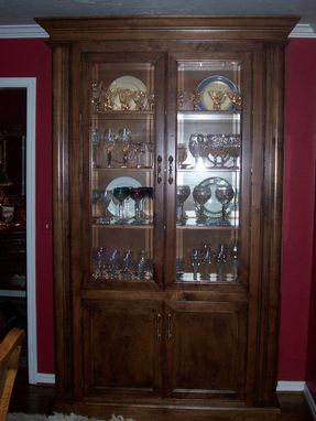 Handmade Curio Cabinet By Unique Wood Works Custommade Com