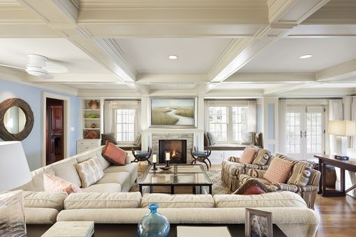 Custom Made Ma. Family Room Renovation By Feinmann Inc