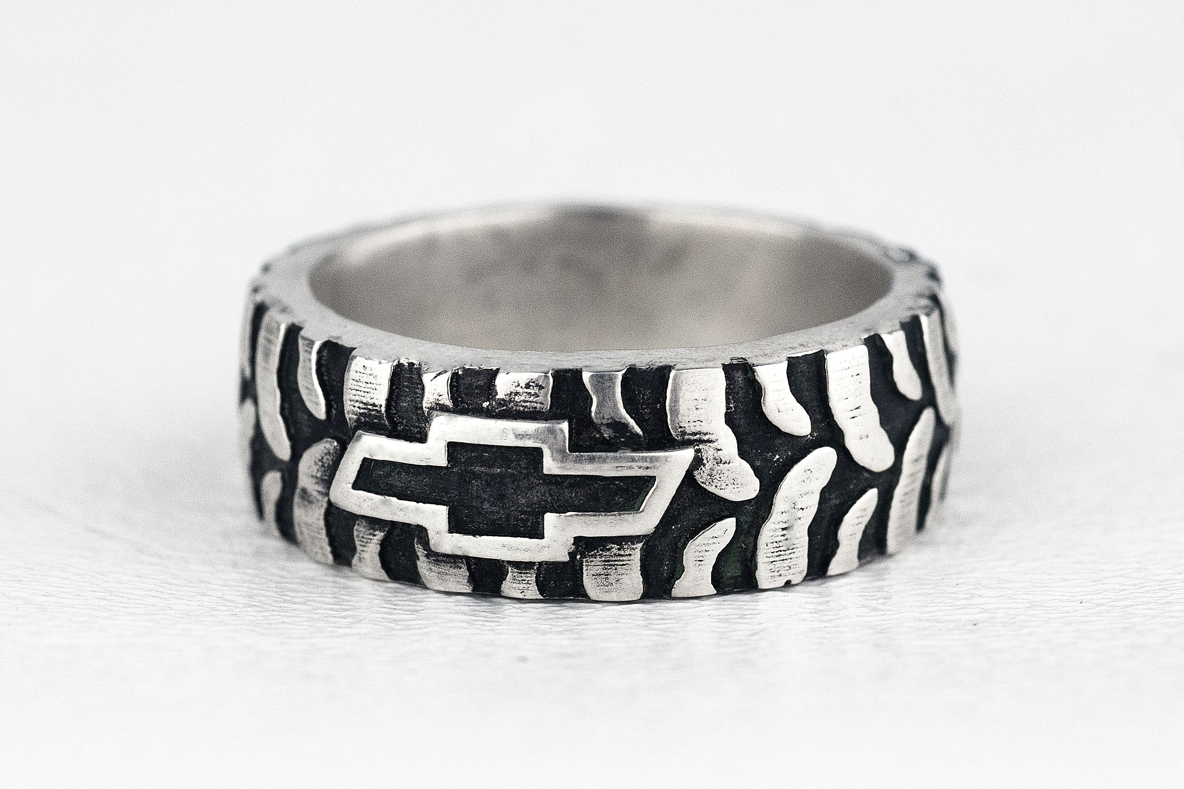Buy A Hand Made Car Truck Mud Bogger Mens Tire Tread Ring Made To Order From Rock My World