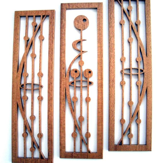 Handmade Striped Mahogany Fretwork Grouping Quot Mother And