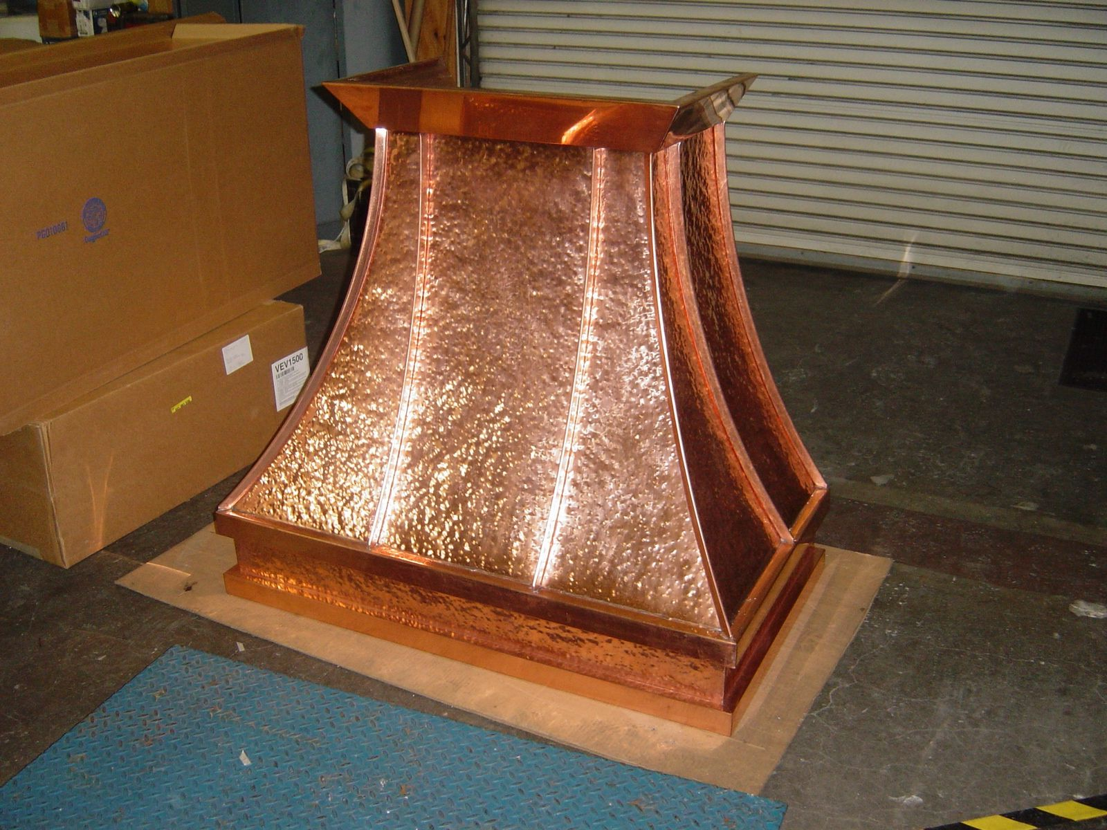 Hand Made Hand Hammered Copper Kitchen Hood By Ejmcopper Inc