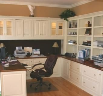 Hand made home office by contemporary woodcrafts inc - Unique desks for home office ...