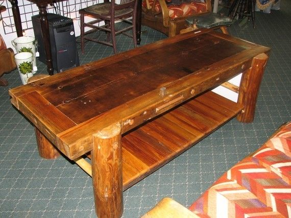 Hand Made Rustic Log Coffee Table By Nicoll Carpentry Llc