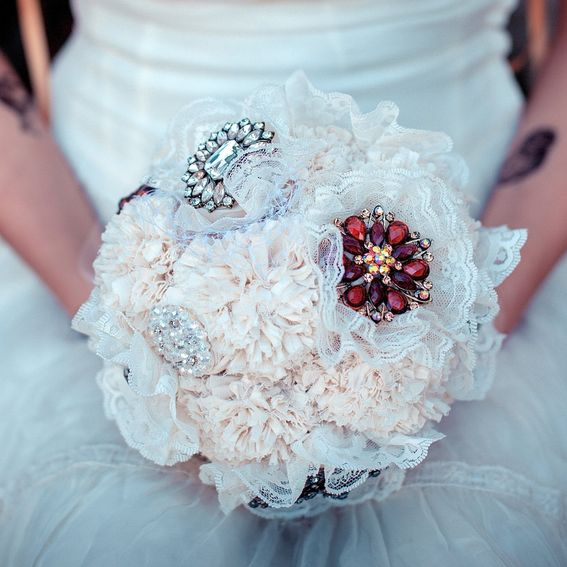 Hand Crafted Brooch Bridal Bouquet, Jewelry Bouquet