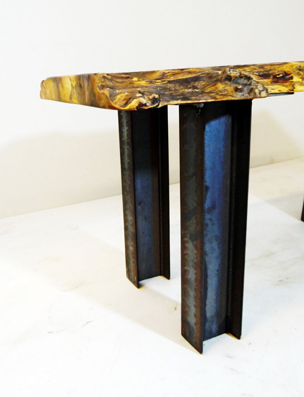 Buy Hand Crafted Industrial Modern Stee I Beam Pedestal Coffee Table Legs Made To Order From