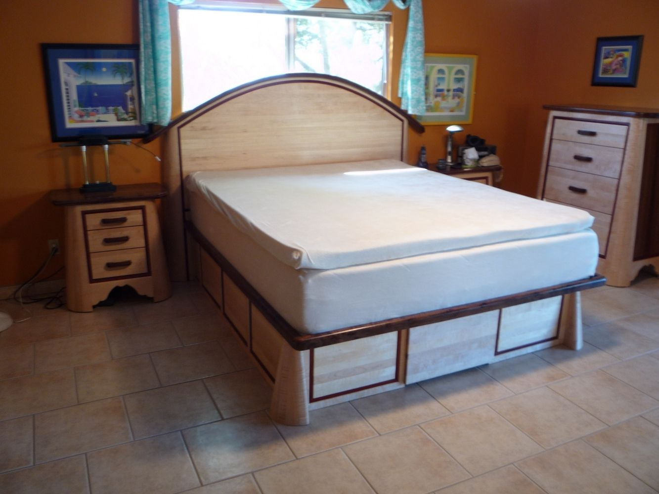 hand crafted custom bedroom set by natural choice