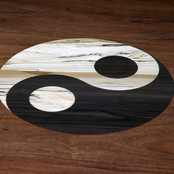 Handmade yin yang tean table by myers design inc for Table yin yang basse