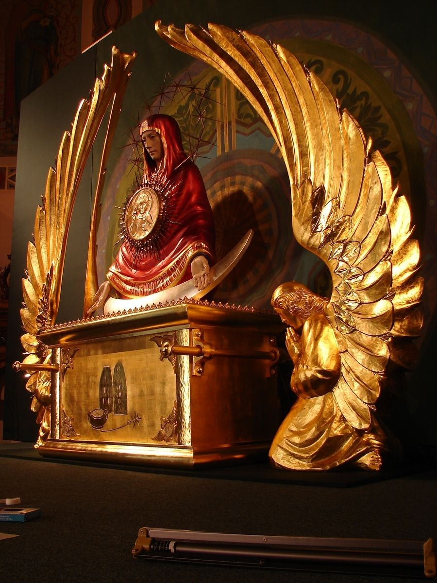 Handmade Iconic Monstrance Of Our Lady Of The Sign Ark Of