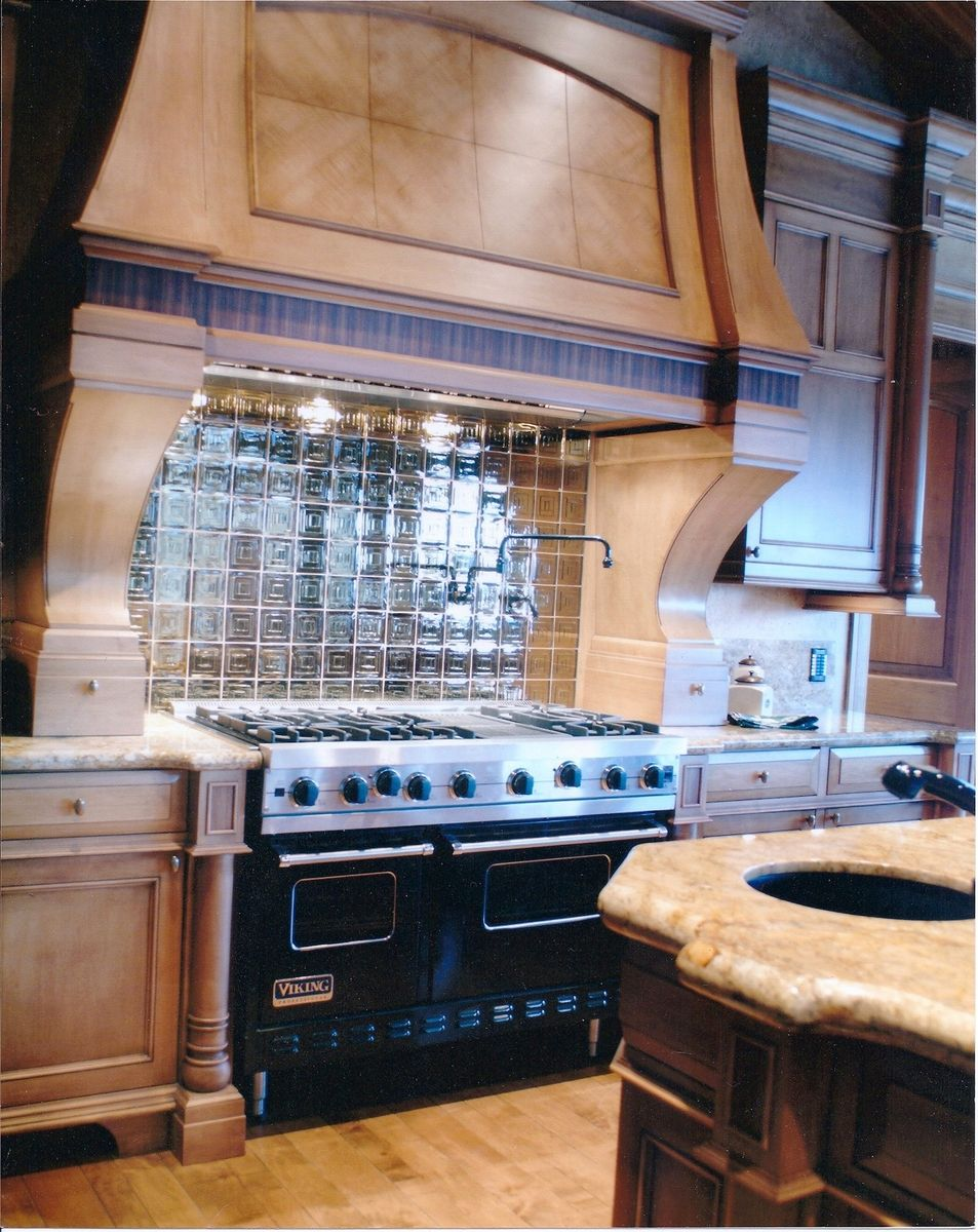 Hand made custom kitchen backsplash omaha by glas tile inc - Custom kitchen backsplash tiles ...