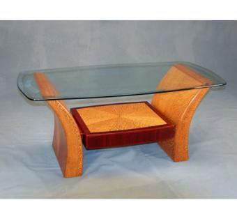 Custom Made Lacewood Coffee Table
