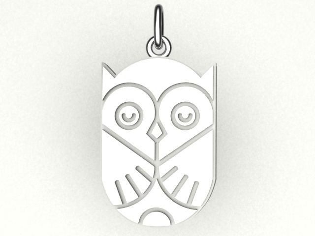 Custom Made Sterling Silver Owl Charm By Hotmint Jewelry