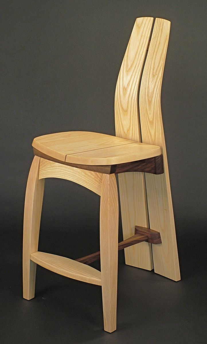 Hand Crafted Samadhi Counter Stool By Dharma Design