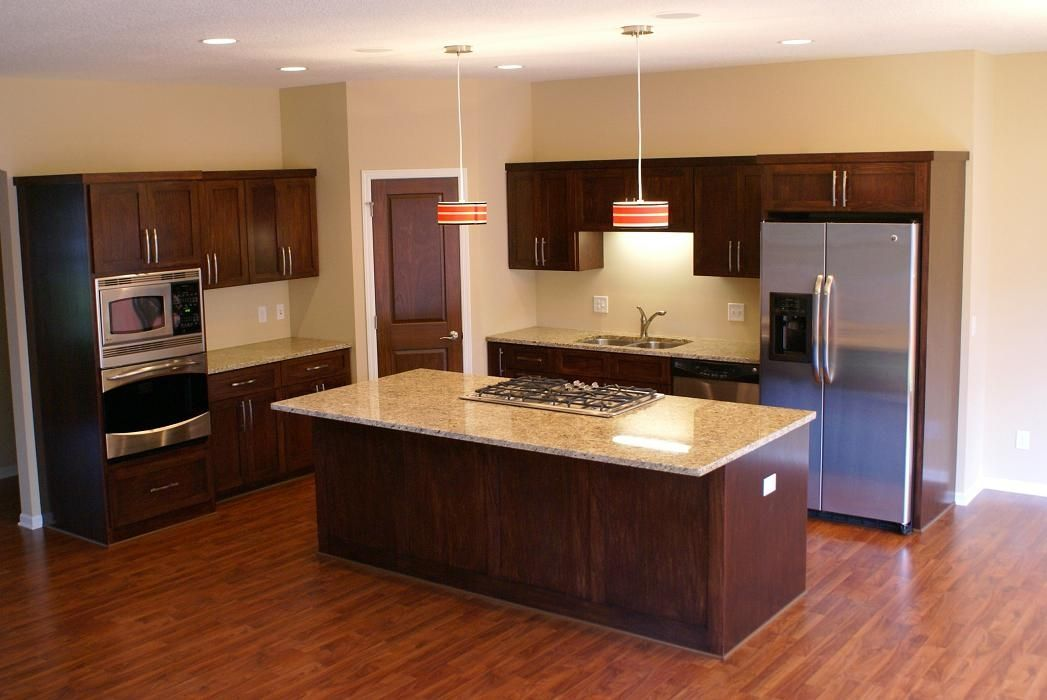 Custom stained poplar kitchen by bergstrom cabinets inc - Poplar wood kitchen cabinets ...