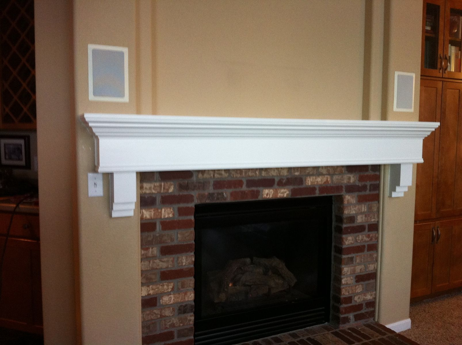 Custom Painted Fireplace Mantle by Parker Custom Woodworks ...