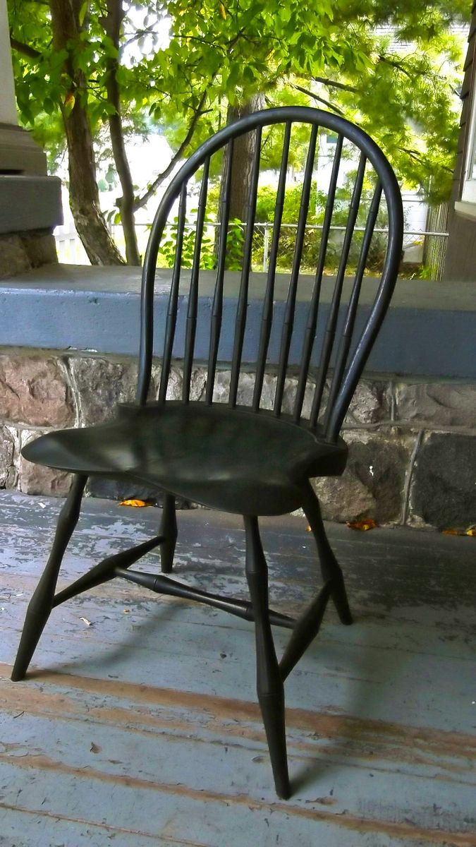 Hand Made Hoop Back Windsor Accent Chair Dining Chair By