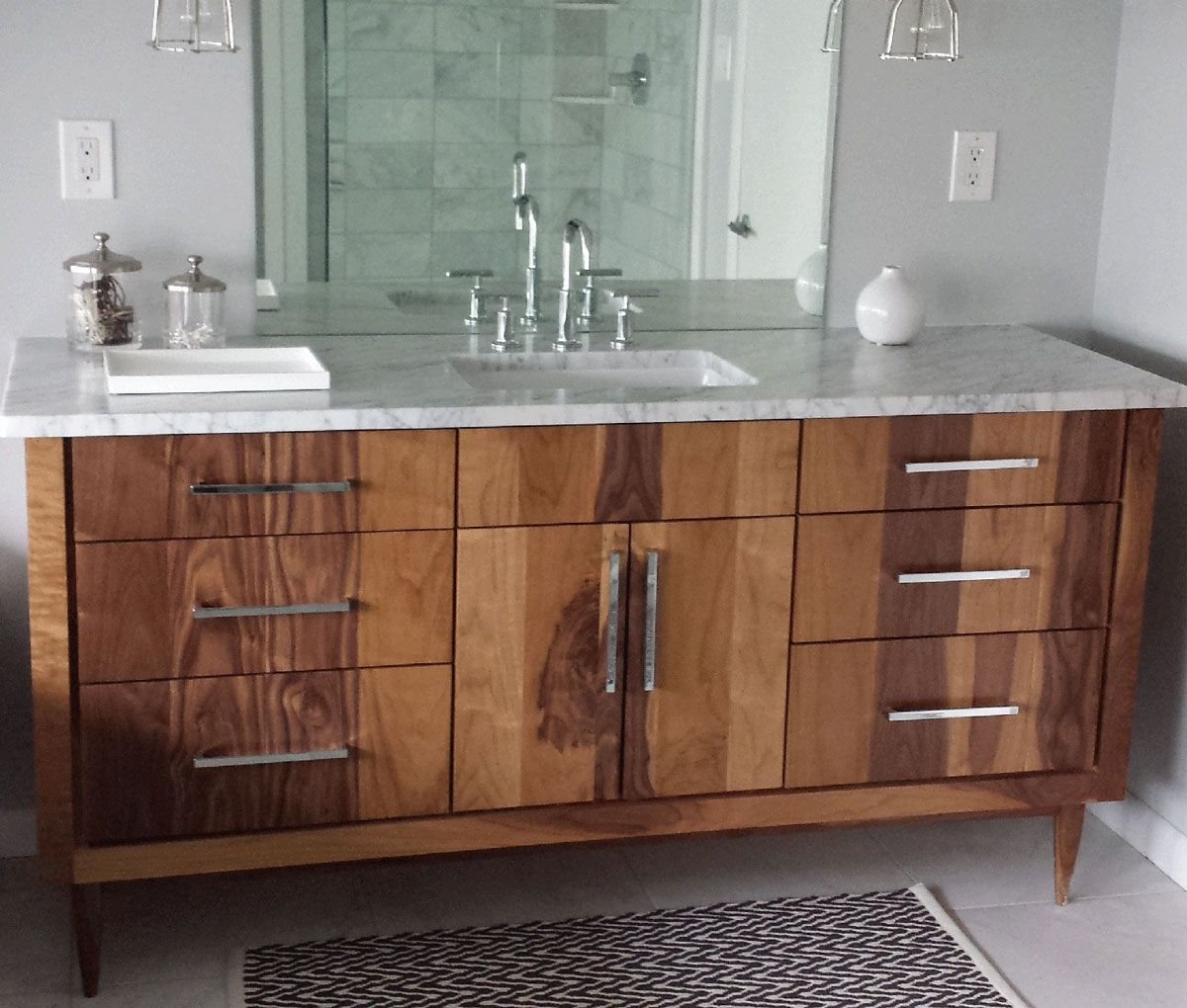 Handmade custom bathroom vanities by furniture by phoenix for Bathroom cabinet designs photos