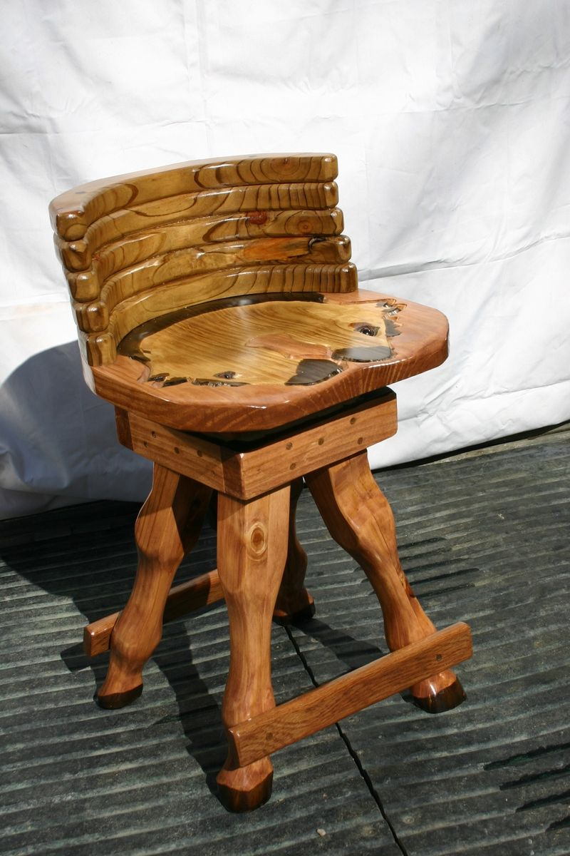 Hand Made Horse Swivel Chair Or Stool By Horses Of Wood