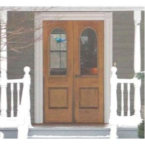 Handmade screen storm door over custom entry door by for Door and screen door combo