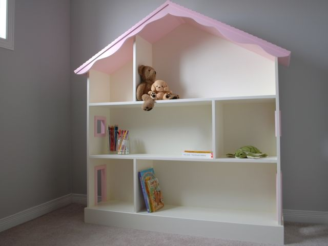 Hand Crafted Dollhouse Bookcase By Clark Wood Creations