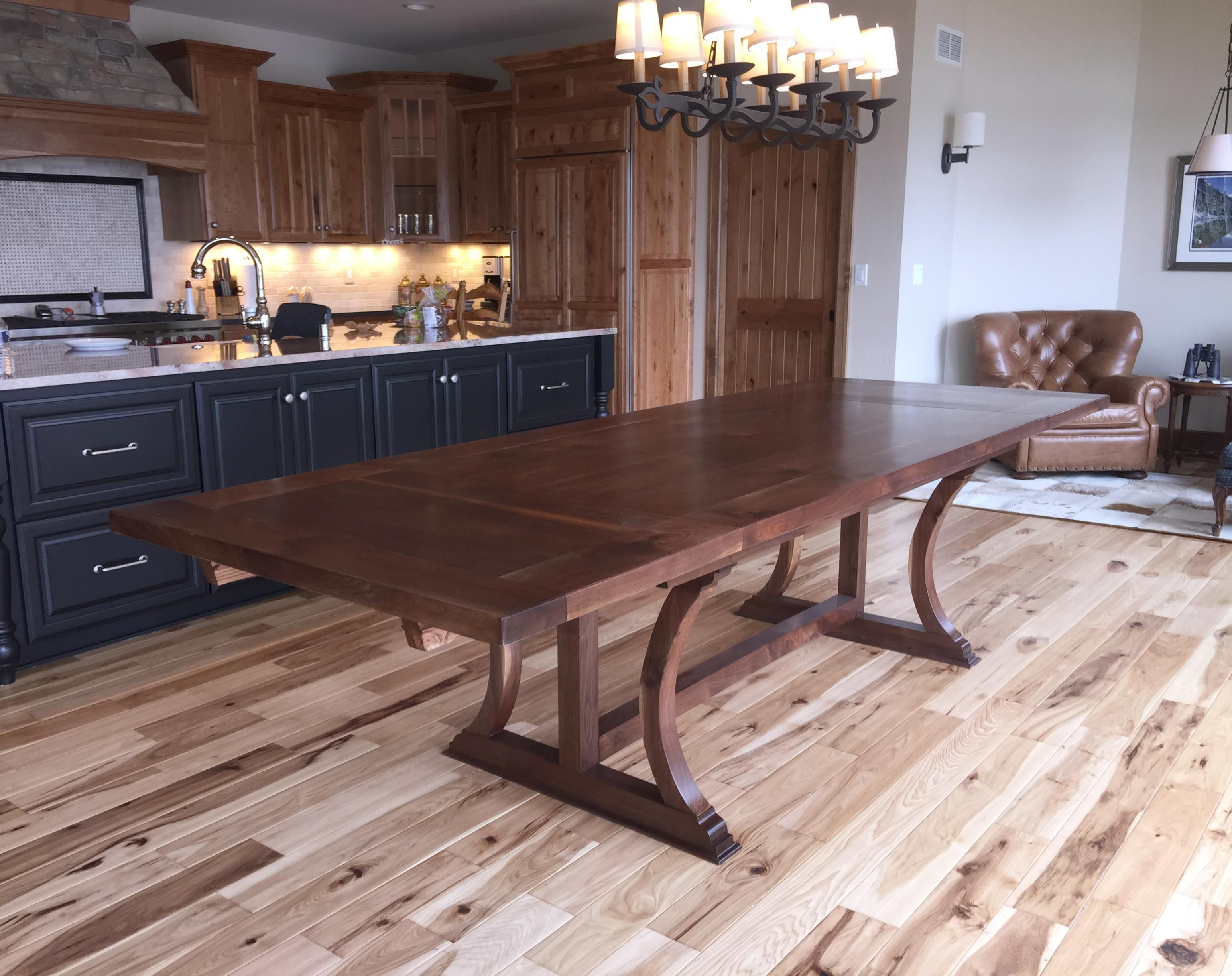 Buy A Hand Made Walnut Dining Table With Trestle Legs 03