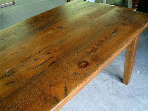 Custom Made Very Rustic Thick Barn Wood Farm Table