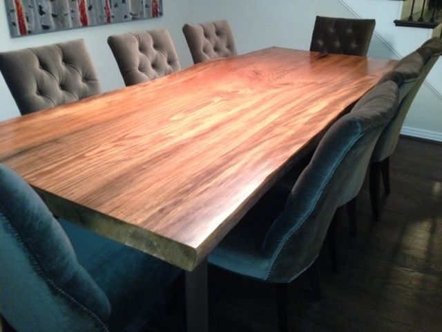 Hand Crafted Live Edge Sycamore Dining Table By North