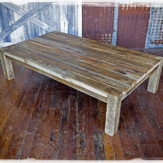 Custom Solid Barn Wood Coffee Table By Heirloom Llc